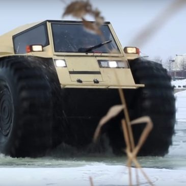 Gift idea for your Russian oligarch friend: Icy lake cruising ATV