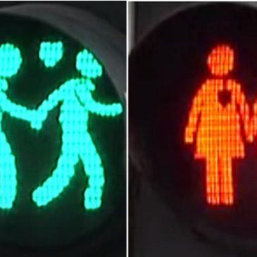 Dutch city introduces LGBT-themed traffic lights