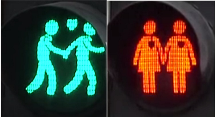 Dutch city introduces LGBT-themed traffic lights