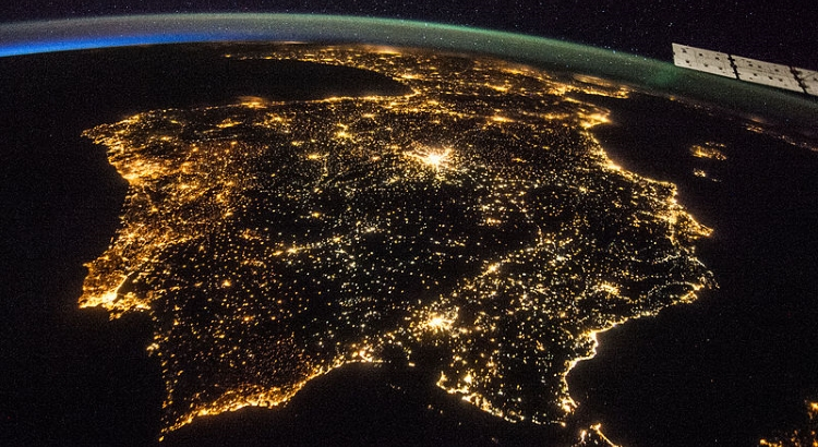 Europe by Night: Views from the Space
